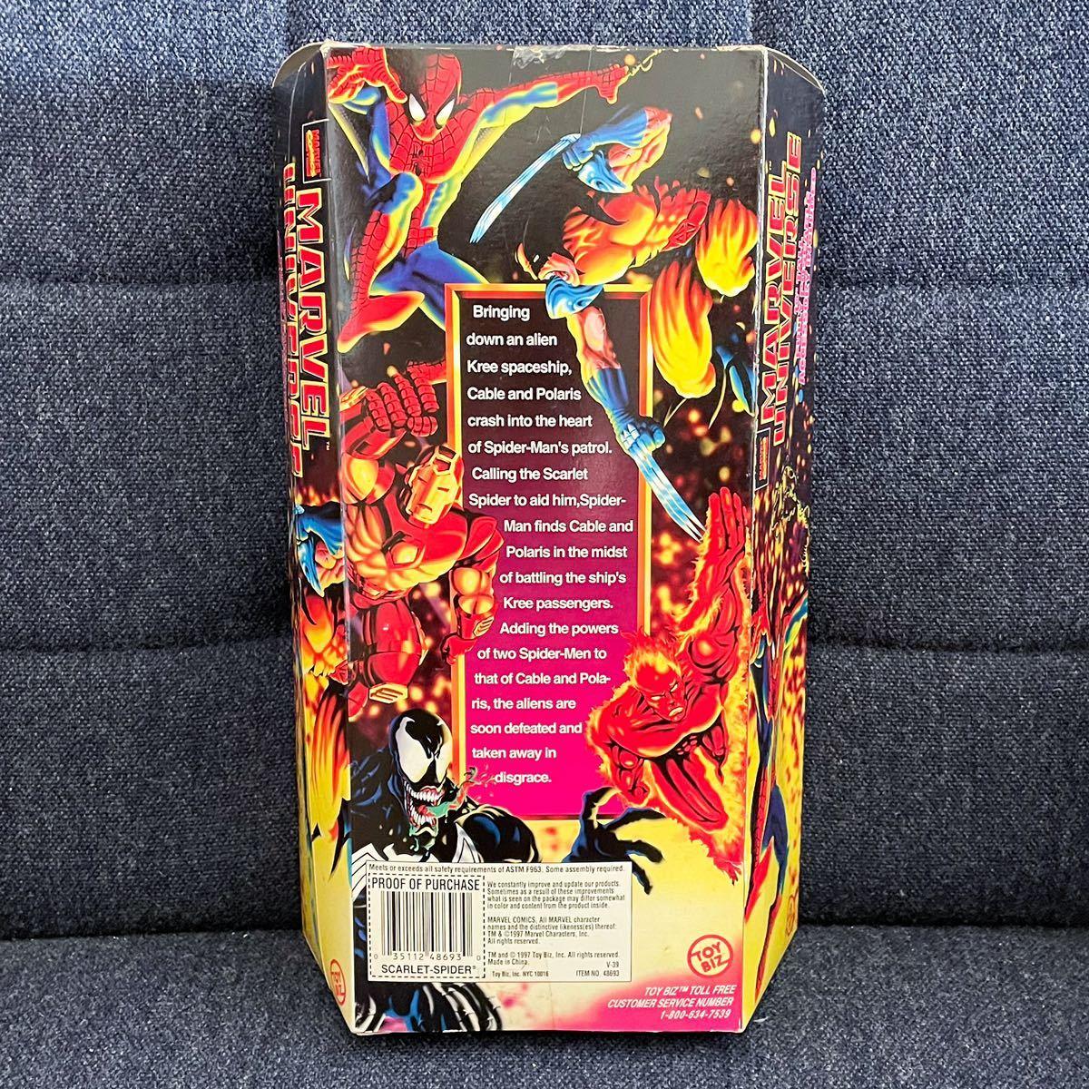未開封 1997年製 TOYBIZ トイビズ マーベルユニバース 10インチアクションフィギュア SPIDER-MAN スパイダーマン スカーレットスパイダー_画像5