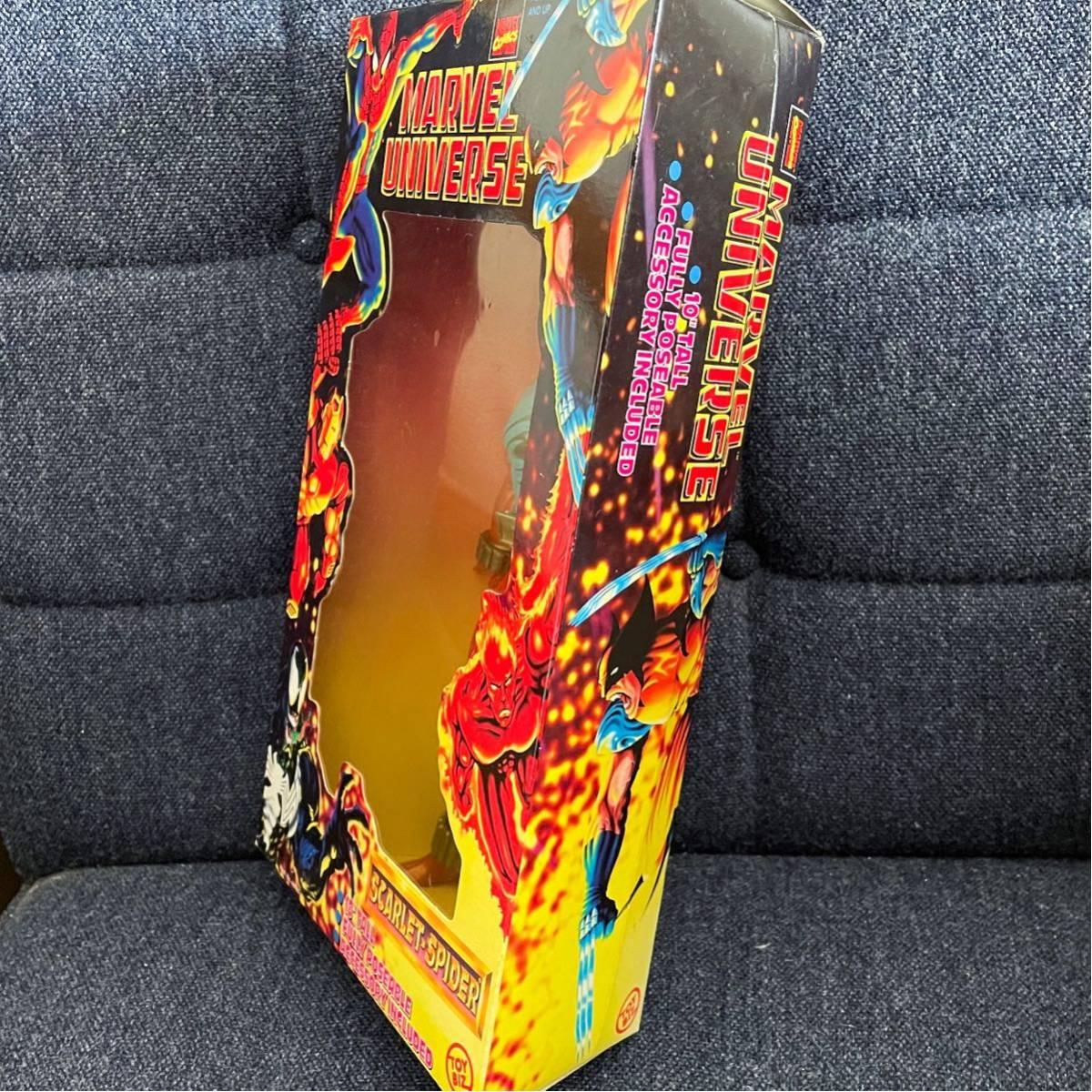 未開封 1997年製 TOYBIZ トイビズ マーベルユニバース 10インチアクションフィギュア SPIDER-MAN スパイダーマン スカーレットスパイダー_画像4