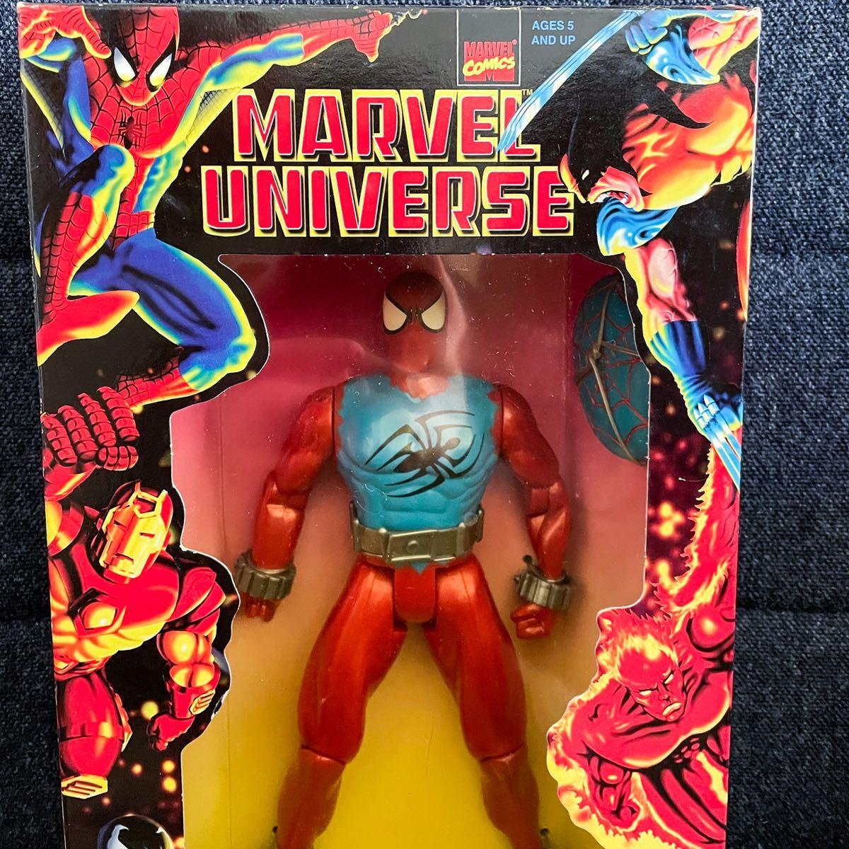 未開封 1997年製 TOYBIZ トイビズ マーベルユニバース 10インチアクションフィギュア SPIDER-MAN スパイダーマン スカーレットスパイダー_画像3