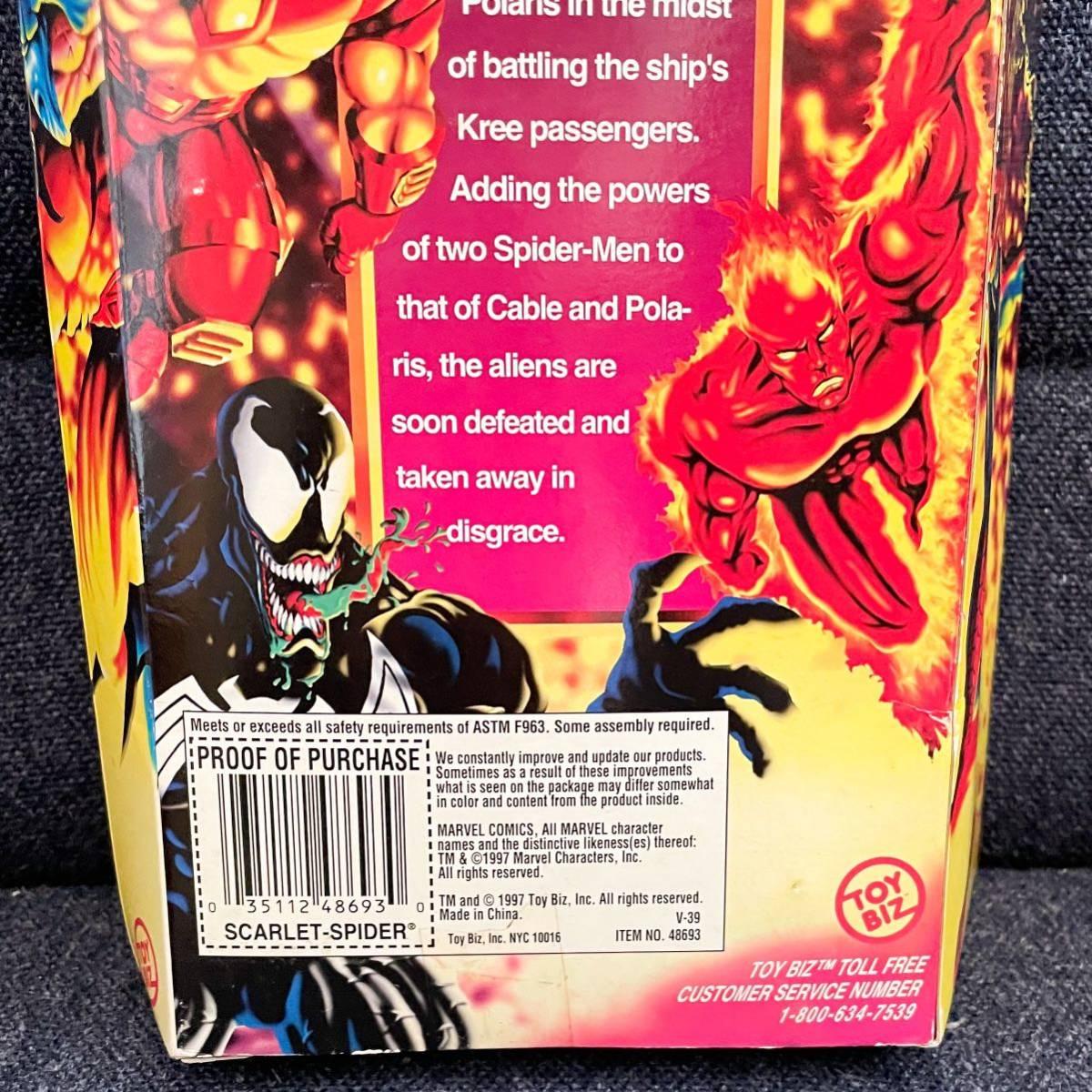 未開封 1997年製 TOYBIZ トイビズ マーベルユニバース 10インチアクションフィギュア SPIDER-MAN スパイダーマン スカーレットスパイダー_画像7