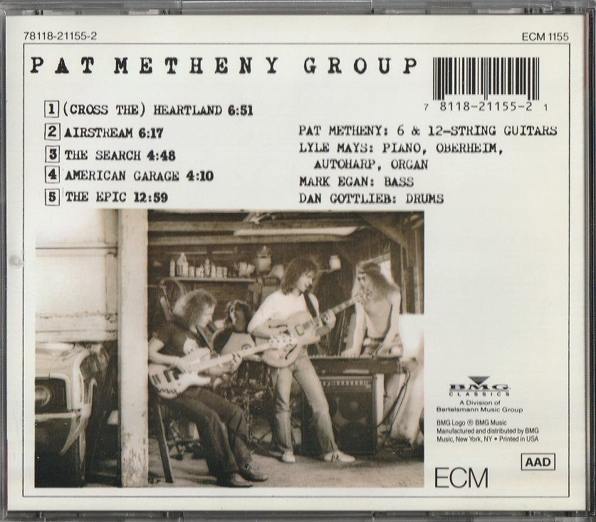 【中古】Pat Metheny Group / American Garage (輸入盤, 盤質良好, 1979年作品) #Lyle Mays, Mark Egan, Dan Gottlieb_画像2