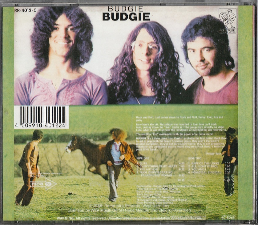 【中古】Budgie / Budgie (輸入盤, 1971年作品)_画像2