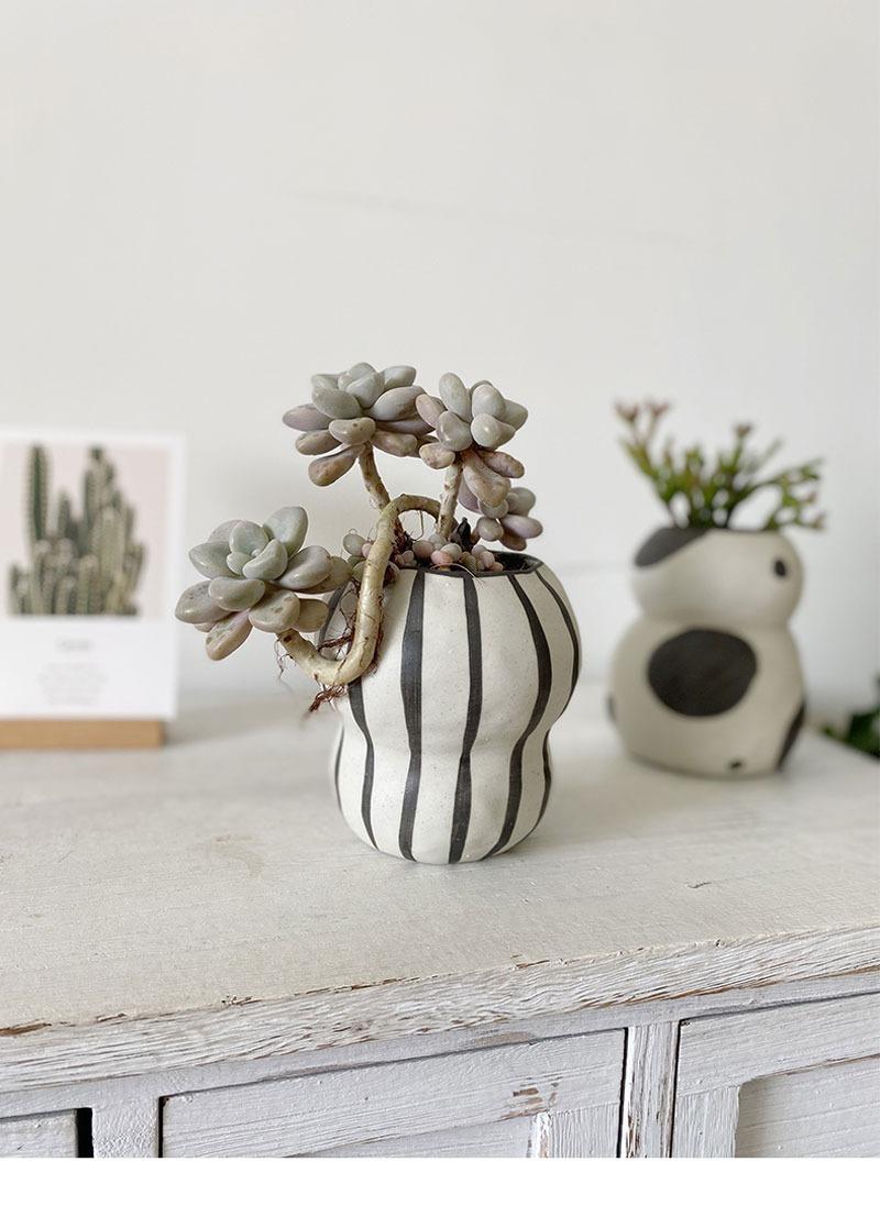 この存在が北欧デザイン●ストライプ フラワーポット 花瓶 バルコニー 多肉植物 盆栽 ポット 植木鉢 インテリア おしゃれ サボテン bb26_画像2