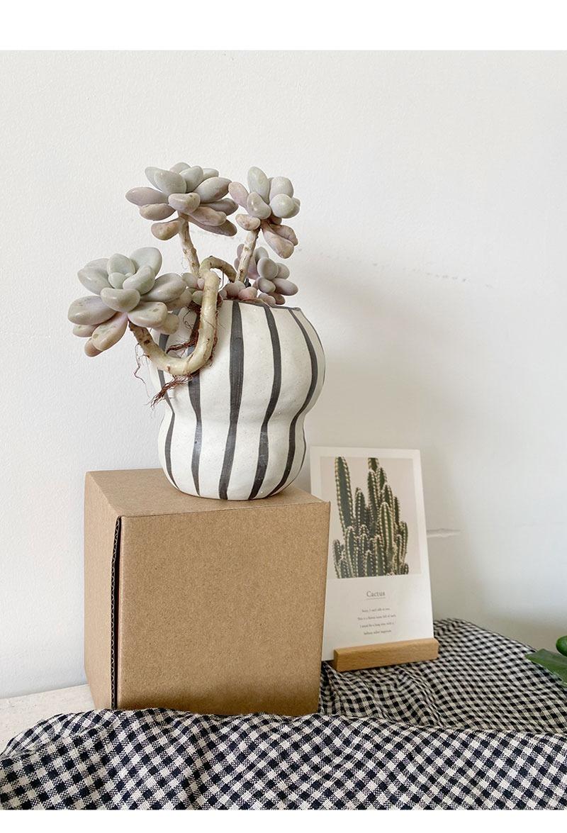 この存在が北欧デザイン●ストライプ フラワーポット 花瓶 バルコニー 多肉植物 盆栽 ポット 植木鉢 インテリア おしゃれ サボテン bb26_画像4
