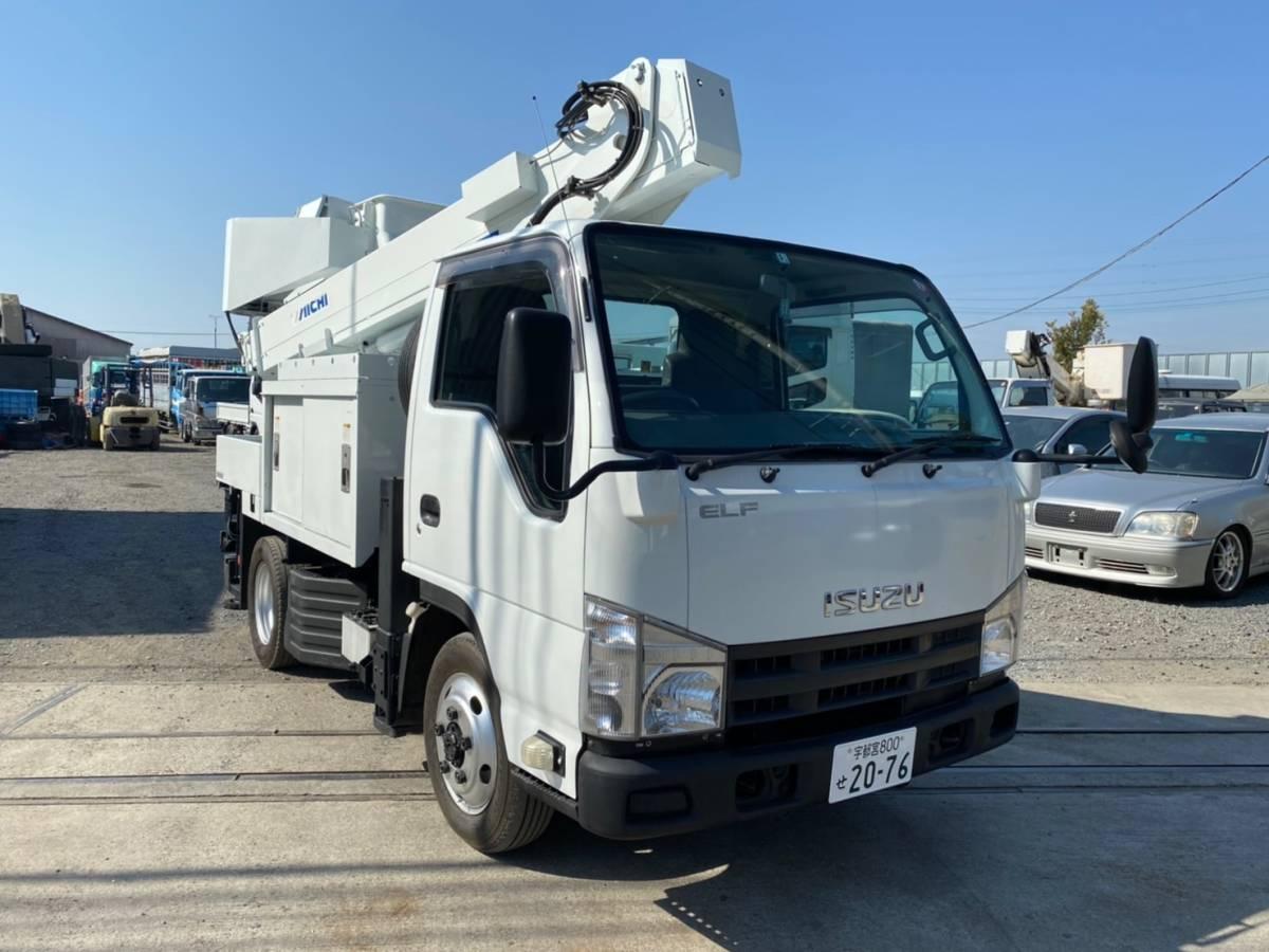 いすゞ エルフ 高所作業車 アイチ製 SH10A 9.9m