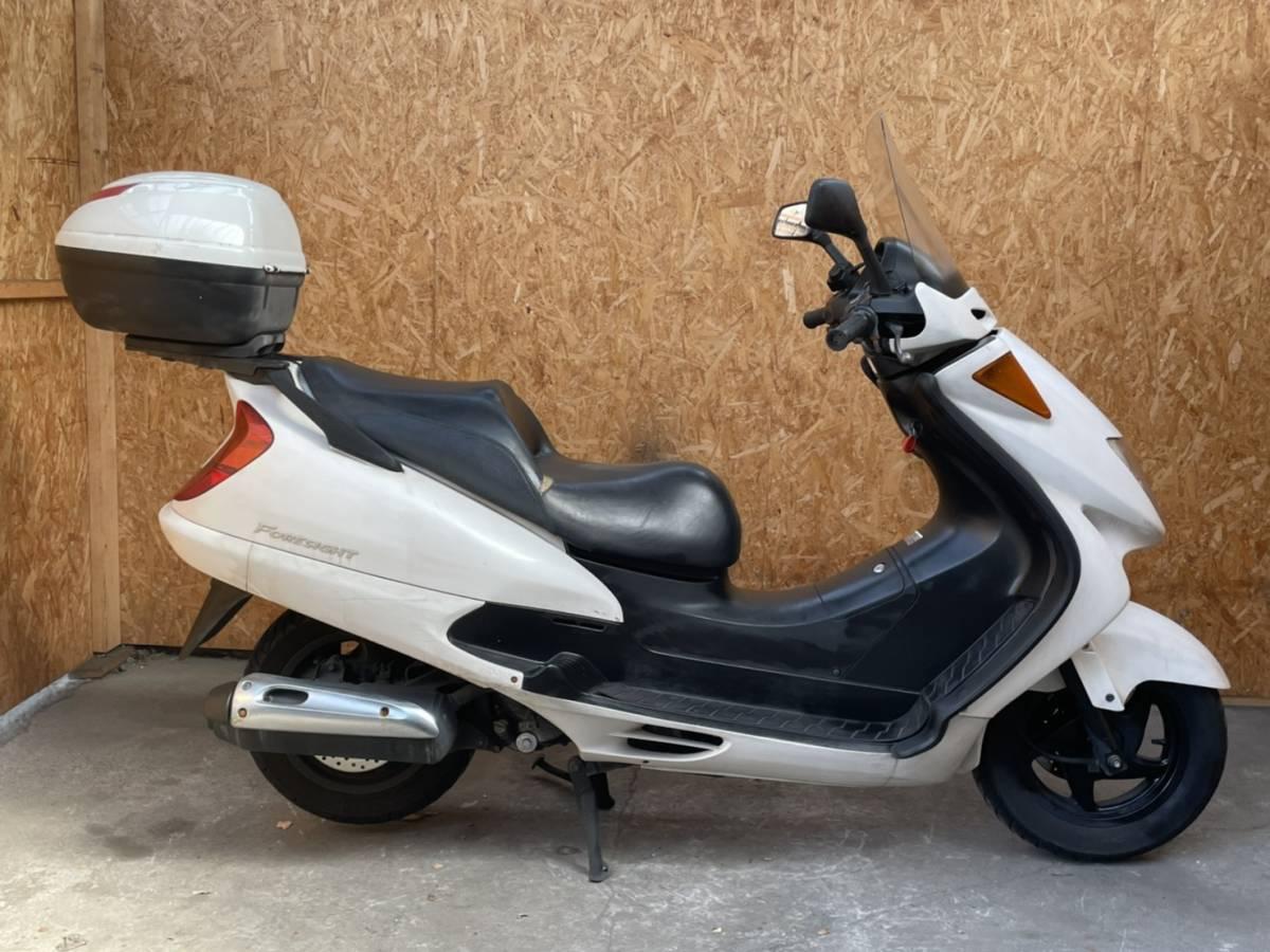 「長野県☆フォーサイトEX MF04☆ディスクブレーキ グリップヒーター ボックス付き検)マジェスティ スカイウェイブ ビッグスクーター 250cc」の画像1