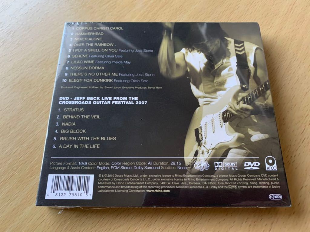 特価 新品未開封 限定盤CD+DVD Jeff Beck Emotion&Commotion Limited Edition 即決 輸入盤 廃盤 入手困難 送料無料