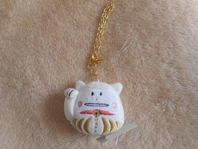 ☆バッグチャーム & 携帯ストラップ☆ネコのコラット 招き猫・だるま /CRAFTHOLIC(クラフトホリック)_画像1