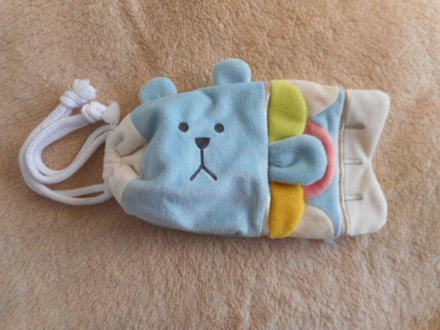 ☆こいのぼり型ポーチ・巾着 クマのスロース ブルー・青・水色/CRAFTHOLIC(クラフトホリック)_画像1