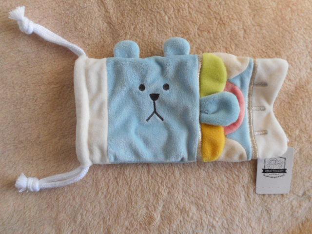 ☆こいのぼり型ポーチ・巾着 クマのスロース ブルー・青・水色/CRAFTHOLIC(クラフトホリック)_画像2