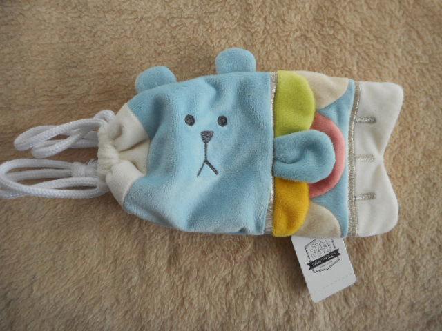 ☆こいのぼり型ポーチ・巾着 クマのスロース ブルー・青・水色/CRAFTHOLIC(クラフトホリック)_画像4