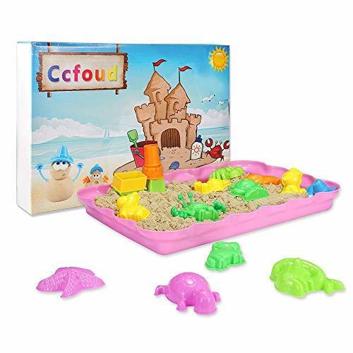 原色 幅36cm×高さ4cm×奥行16cm 砂遊びおもちゃ 砂場セット 砂セット 室内砂場 砂粘土おもちゃ 手を汚さ_画像8