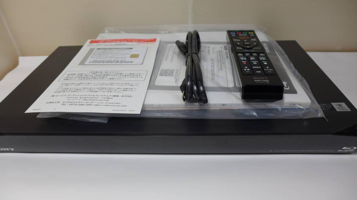 SONY ブルーレイディスクレコーダー BDZ-EW1100 リモコン B-CASカード 付き 2番組同時録画 HDD 1TB ★初期動作保証_画像1