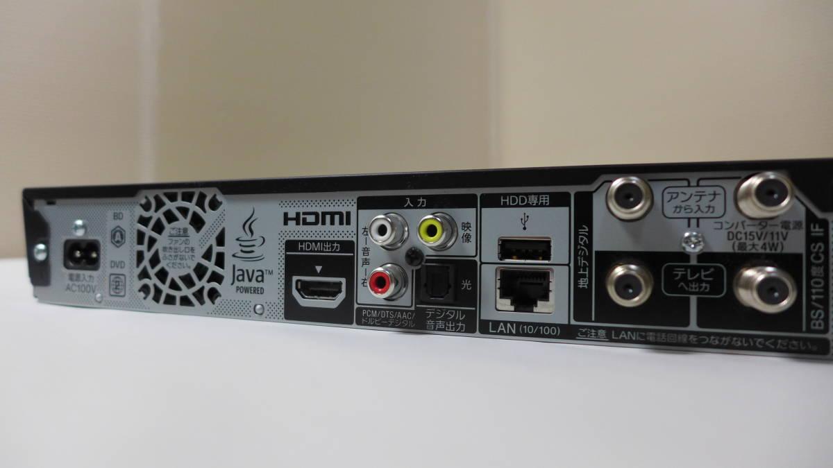 SONY ブルーレイディスクレコーダー BDZ-EW1100 リモコン B-CASカード 付き 2番組同時録画 HDD 1TB ★初期動作保証_画像7