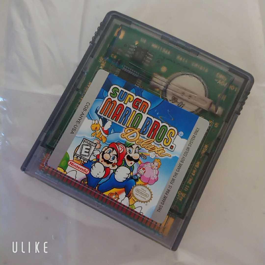 ゲームボーイカラー ソフト SUPER MARIO BROS. DELUXE 海外版 スーパーマリオブラザーズ デラックス レア 美品 動作確認済 送料無料!