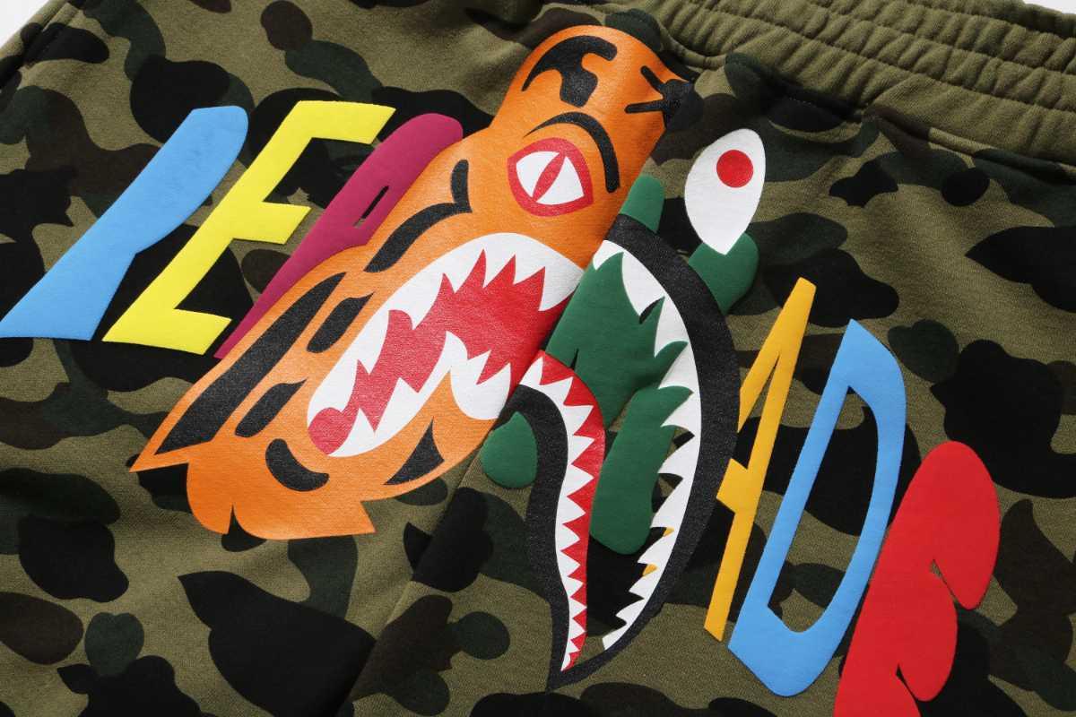 国内 M Bape Readymade Tiger Shark Wide Sweat Shorts ハーフパンツ ショートパンツ シャーク A BATHING APE レディメイド Ready Made _画像2
