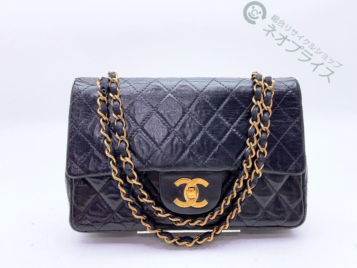 ◆Z7868 CHANEL シャネル マトラッセ ココマーク ヴィンテージ Wチェーン ショルダー バッグ