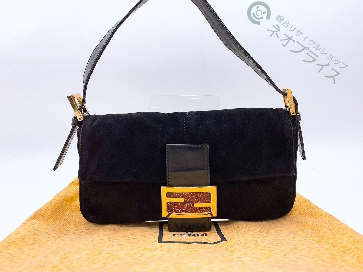 ◆Z7929 FENDI フェンディ スエード マンマ ショルダー バッグ 美品