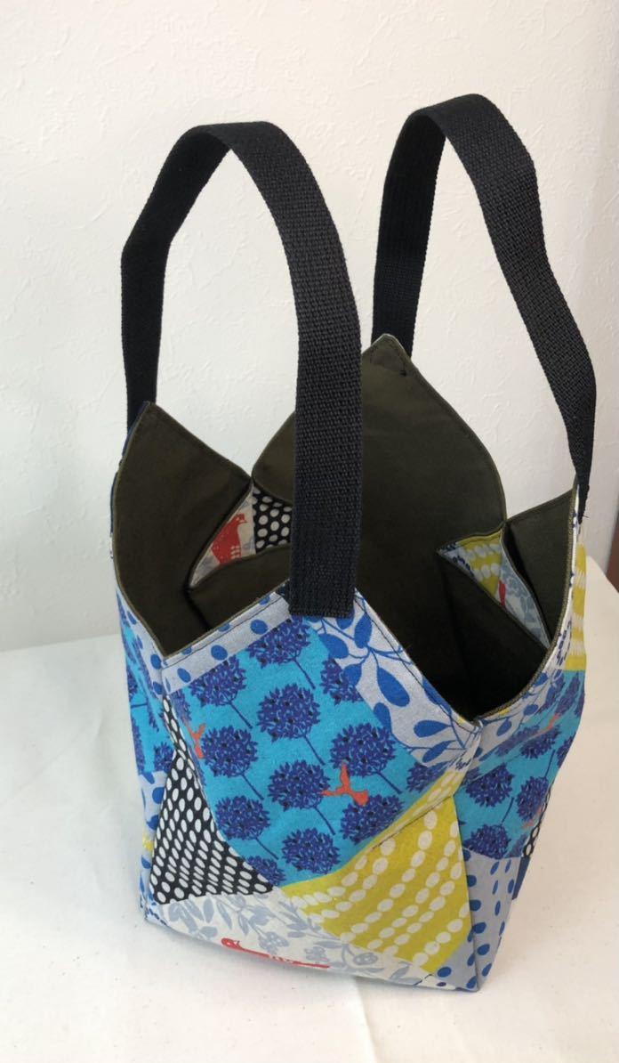 ハンドメイド トートバッグ エチノ おりがみトートバッグ エコバッグ、ランチバッグ、お散歩バッグなどに