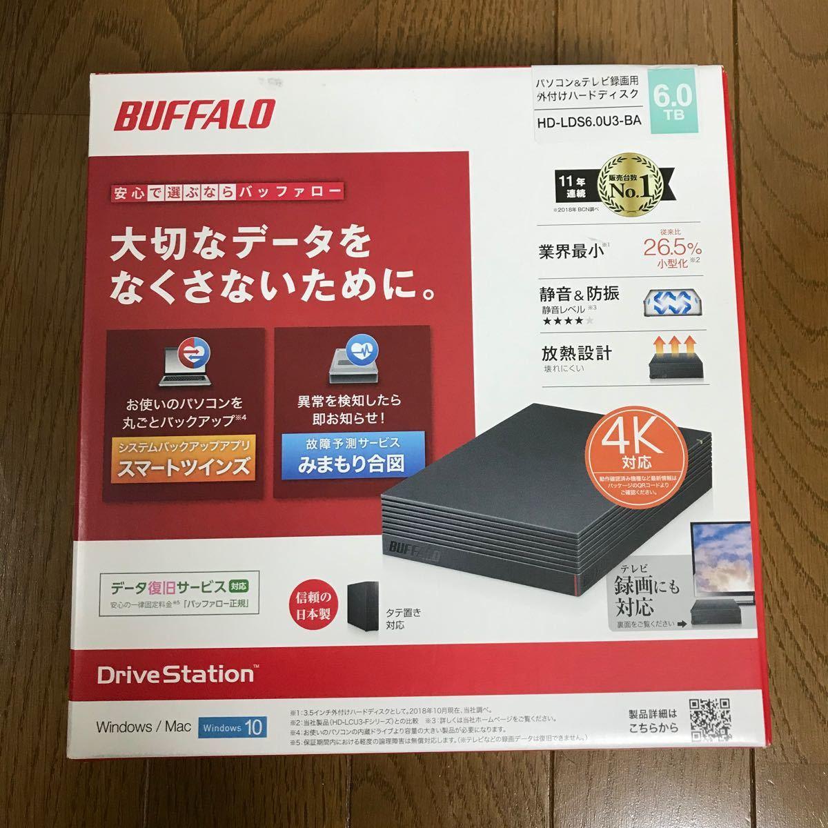 BUFFALO バッファロー 外付けハードディスク6TB HD-LDS6.0U3-BA