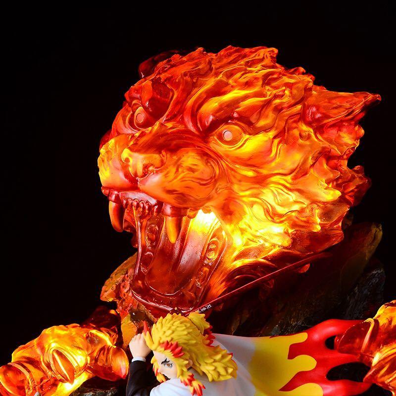 煉獄杏寿郎 炎の呼吸 伍ノ型 炎虎 ★専用★ LED エフェクト 台座 ライトアップ 照明 鬼滅の刃 炎柱 無限列車編 大迫力 ジオラマ 土台 GK