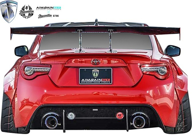 【M's】トヨタ 86 ハチロク ZN6 / スバル BRZ ZC6 (前期/後期) AIMGAIN カーボンGTウイング (VOLTEX ver.) CARBON CFRP エイムゲイン 外装_画像2
