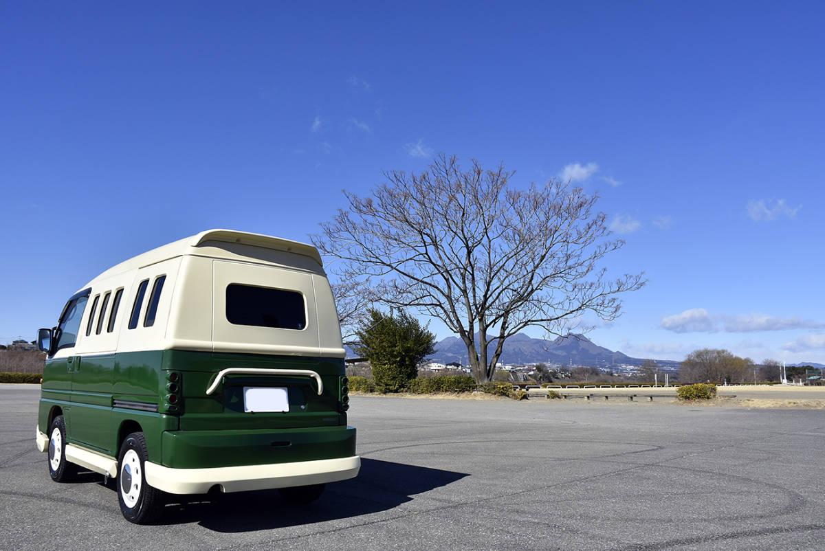 「安心の点検整備付き車検3年12月まで有効の走行6.6万kmワーゲンバス風ドミンゴ4WDキャンピングカー」の画像2