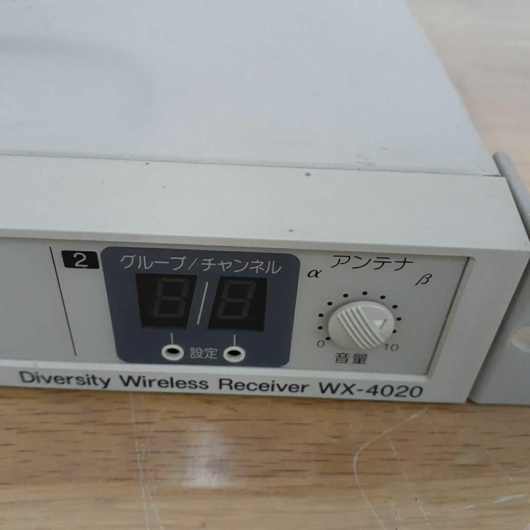 Panasonic パナソニック PPLワイヤレス受信機 WX-4020 通電確認のみ 210225 _画像2