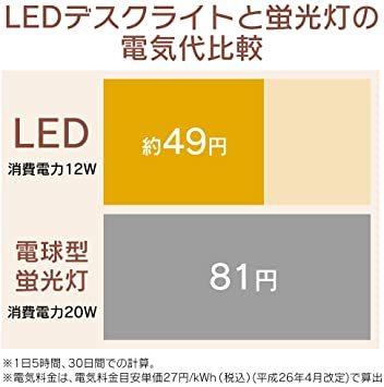 ホワイト 3)3000lx アイリスオーヤマ LED デスクライト クランプタイプ 省スペース 調光無段階 角度調節可能 まぶし_画像6