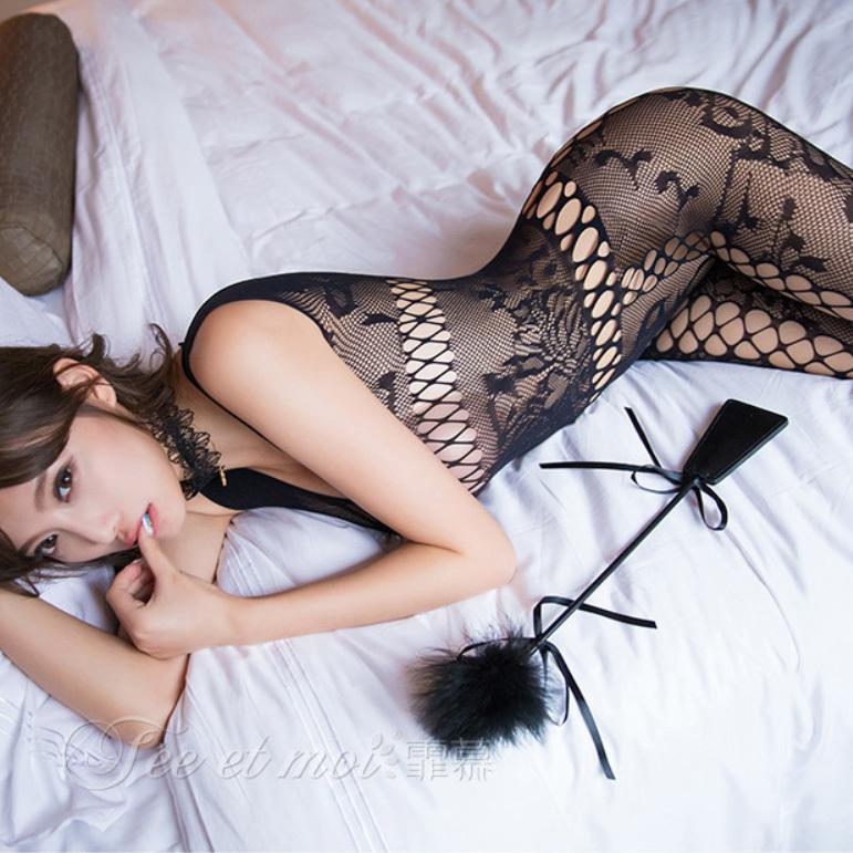 新品 超セクシー 魅せるランジェリー 全身タイツ コスプレ衣装 ナイトウエア 透け透けメッシュ オープンクロッチ Q4680_画像8