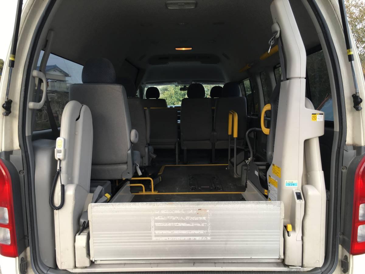 ハイエース 4WD ワイド スーパーロング ハイルーフ フルサイズ ワゴン 福祉車両 チェアキャブ 車いす移動車 車固定装置 トランポ ウェル_画像4