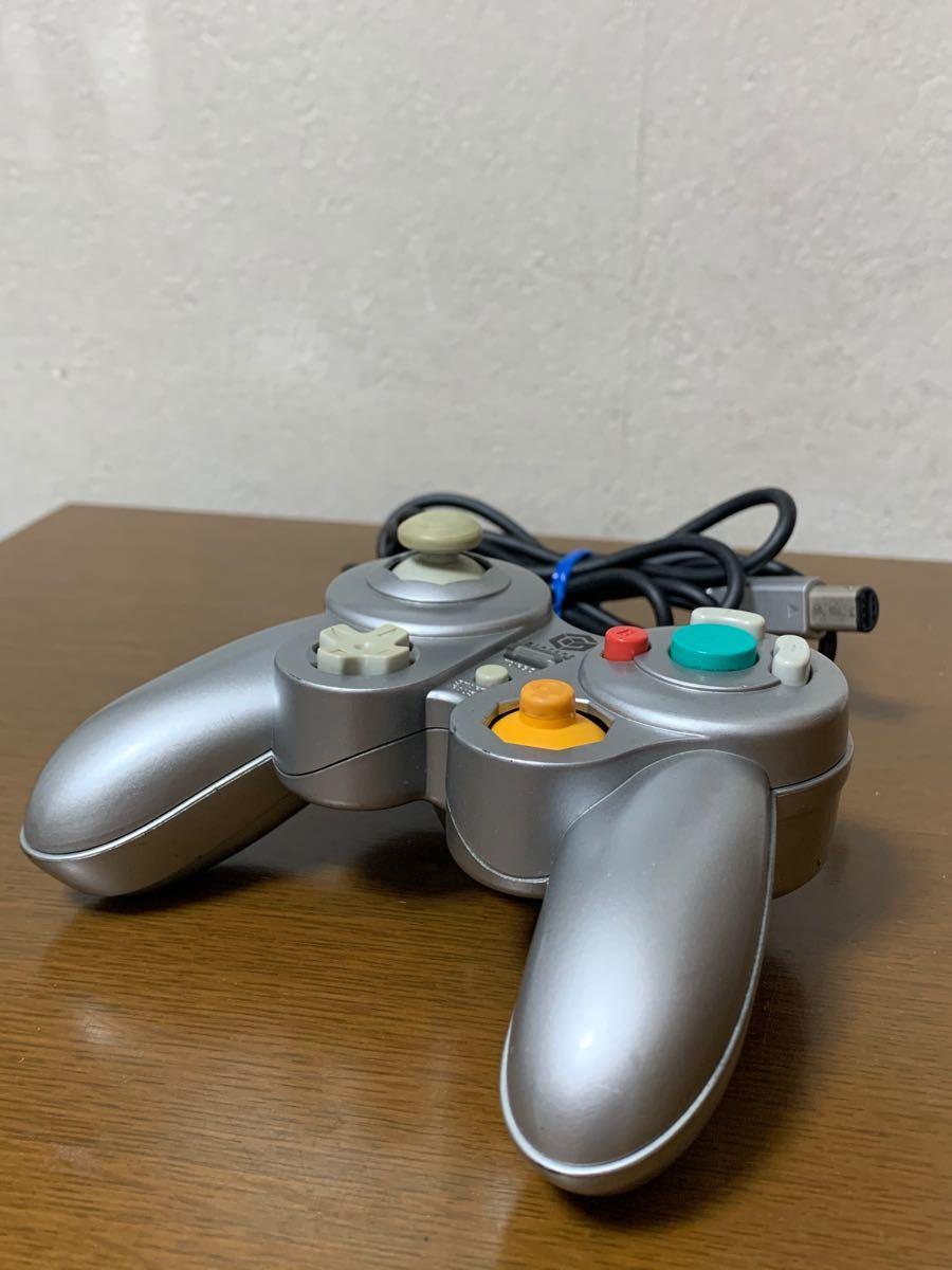 【任天堂】ゲームキューブ コントローラー ジョイパッドキューブミニ シルバー