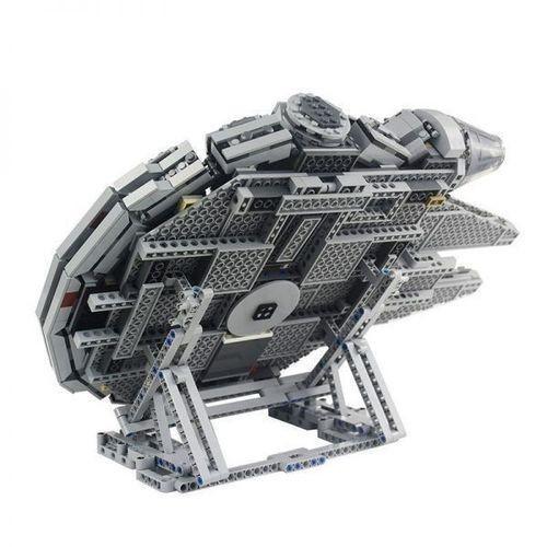 ◇人気新作◇LEGO レゴ 互換 スター・ウォーズ ミレニアム・ファルコン 75212 75192 3D ディスプレイ スタンド 407pcs (グレー) L59_画像1