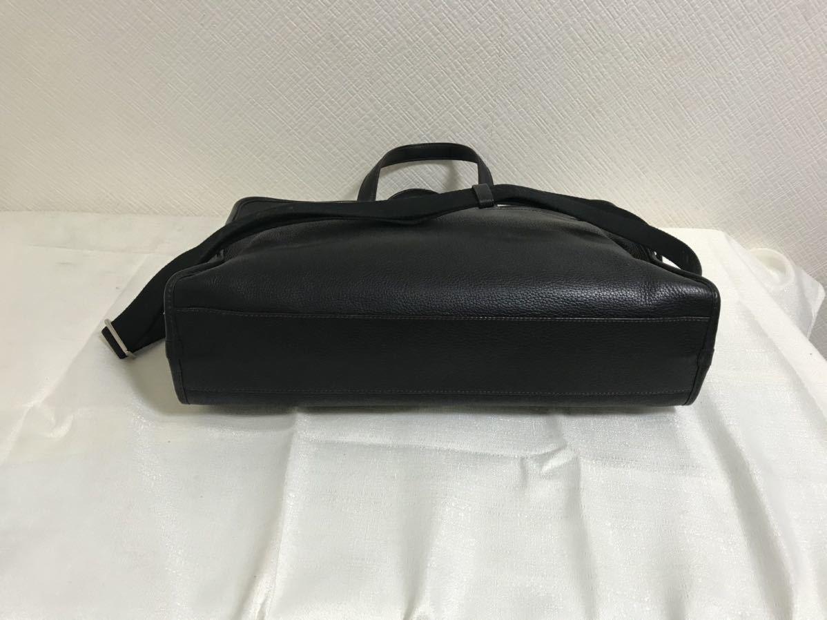 本物ロエベLOEWE本革レザー2wayビジネストートバッグボストンハンドショルダーバック旅行トラベル黒ブラックメンズレディーススペイン製