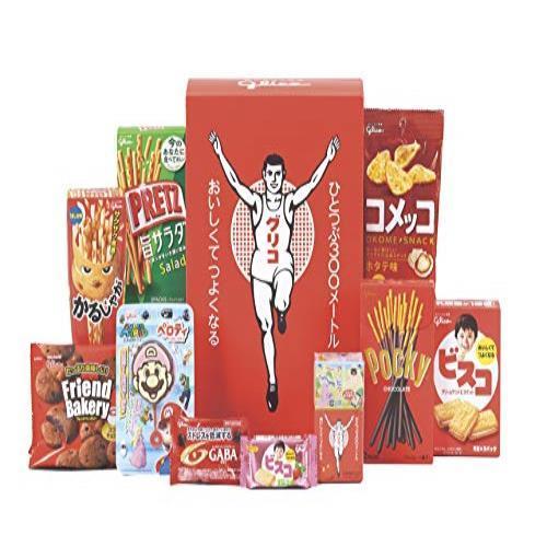 送料無料* 3個セット お菓子10品×3箱 詰め合わせ ギフトボックス入り セレクション・ザ・グリコミニ グリコ お菓子 新品未開封_画像1