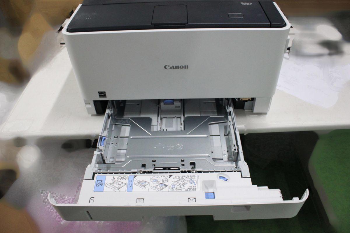 西濃運輸発送 カウンター7078枚 セルフ印刷OK Canon Satera LBP443i A3対応 レーザービーム モノクロプリンター キヤノン O021811_画像4