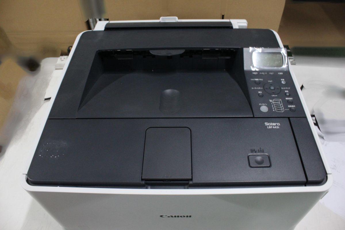 西濃運輸発送 カウンター7078枚 セルフ印刷OK Canon Satera LBP443i A3対応 レーザービーム モノクロプリンター キヤノン O021811_画像3