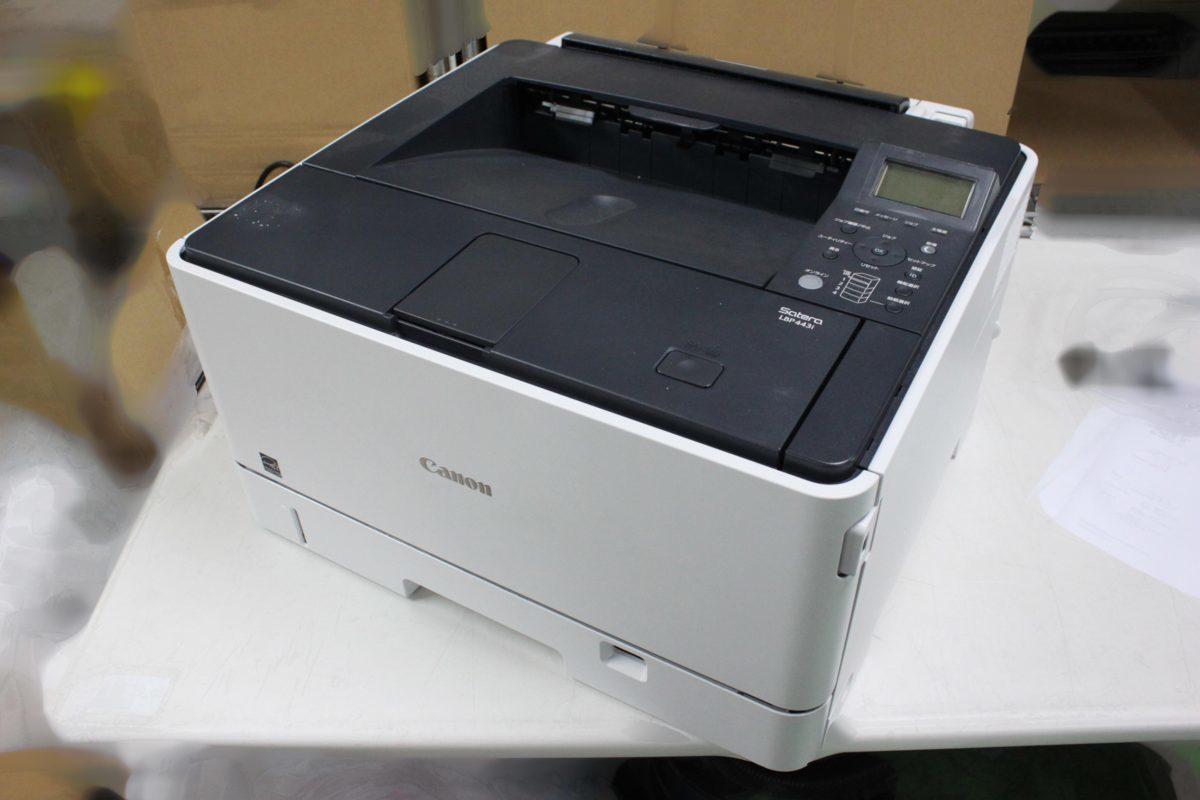 西濃運輸発送 カウンター7078枚 セルフ印刷OK Canon Satera LBP443i A3対応 レーザービーム モノクロプリンター キヤノン O021811_画像1