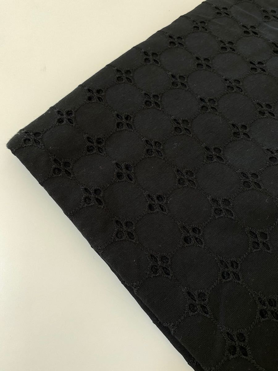 天竺ニット生地 circleflowers 刺繍レース 生地幅×100cm