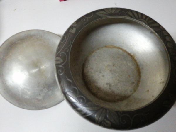 錫 古錫 建水・菓子器 三越特選 約784g212861