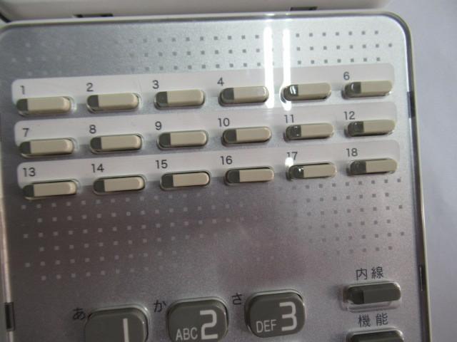 Ω保証有 ZU2 2478) GX-(18)STEL-(2)(W) NTT αGX 18ボタン標準スター電話機 中古ビジネスホン 領収書発行可能 同梱可 西仕_画像6