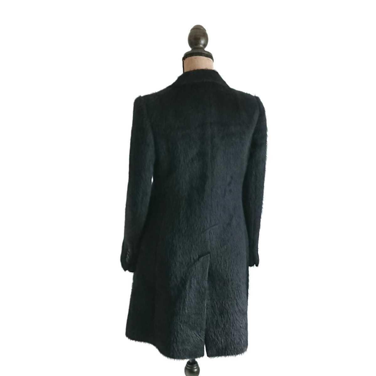 高級 美品 Salvatore Ferragamo フェラガモ コート ブラック_画像6
