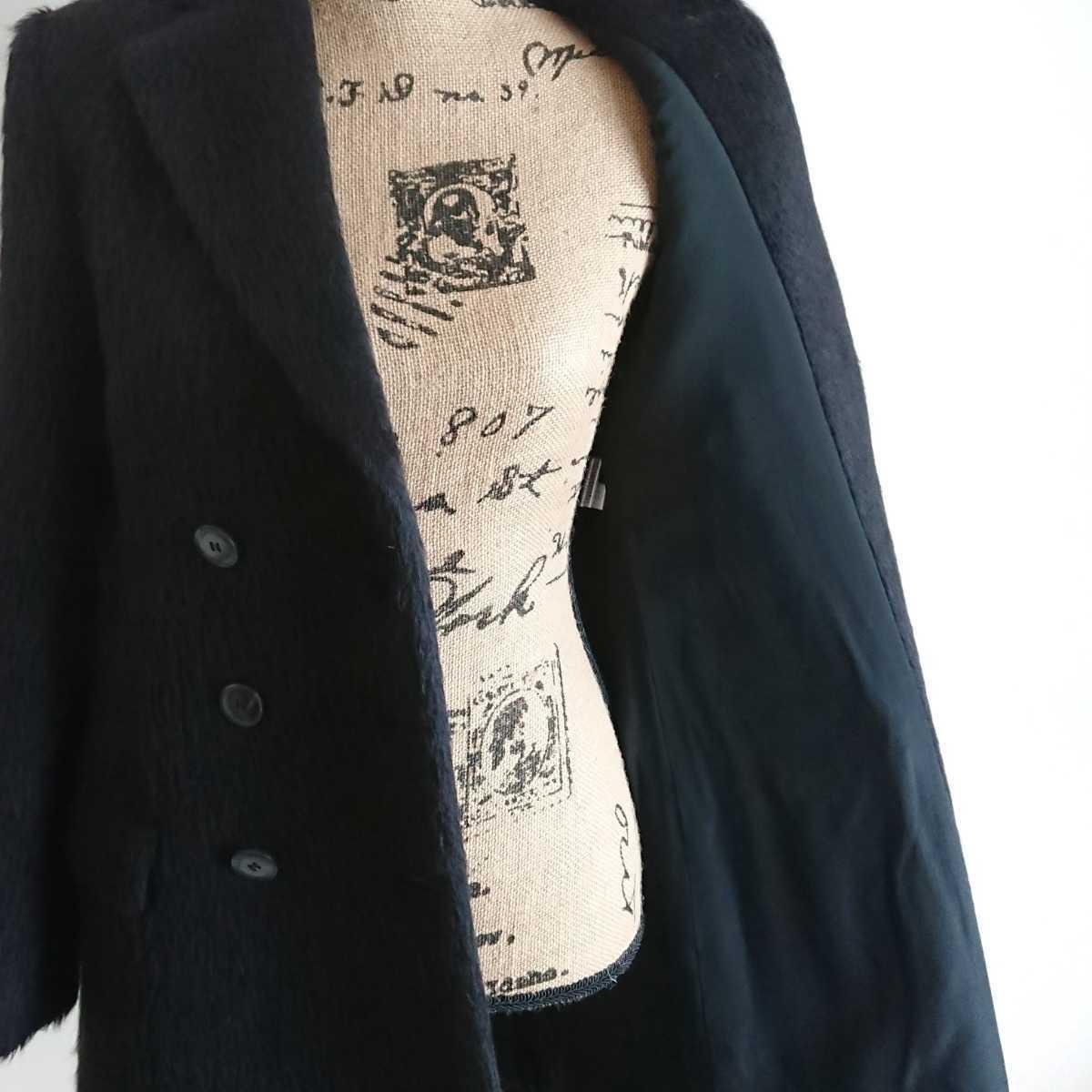 高級 美品 Salvatore Ferragamo フェラガモ コート ブラック_画像8
