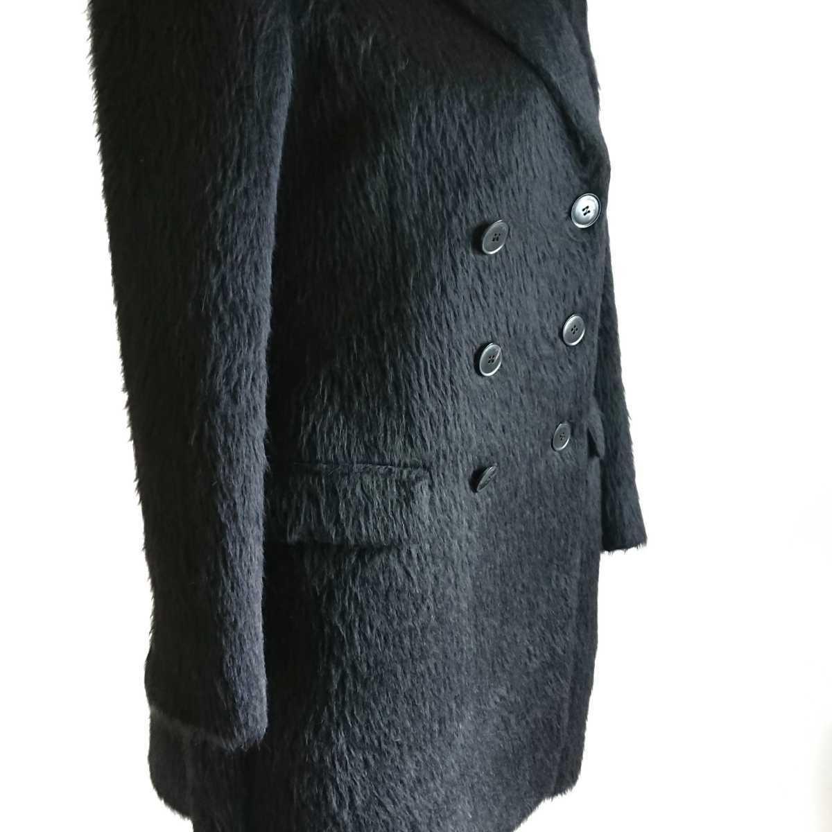高級 美品 Salvatore Ferragamo フェラガモ コート ブラック_画像5