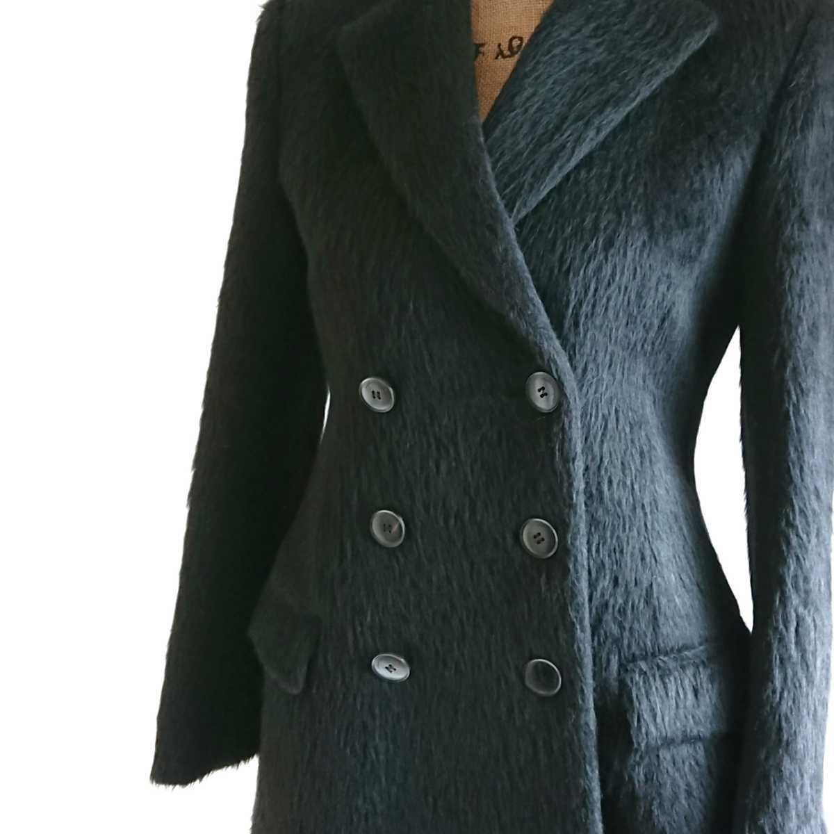 高級 美品 Salvatore Ferragamo フェラガモ コート ブラック_画像3