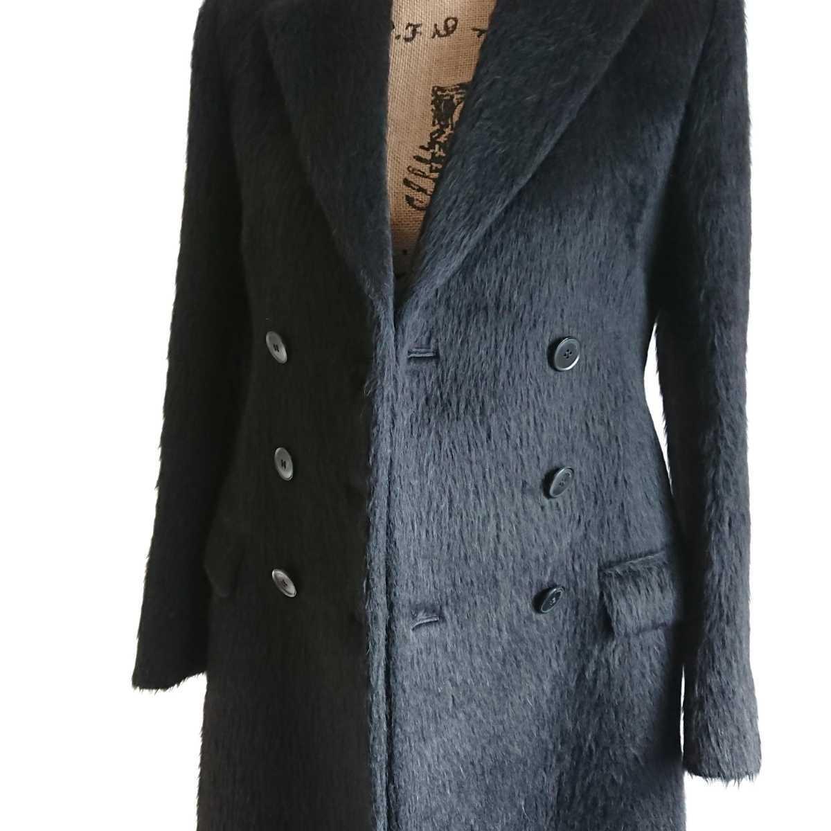高級 美品 Salvatore Ferragamo フェラガモ コート ブラック_画像7
