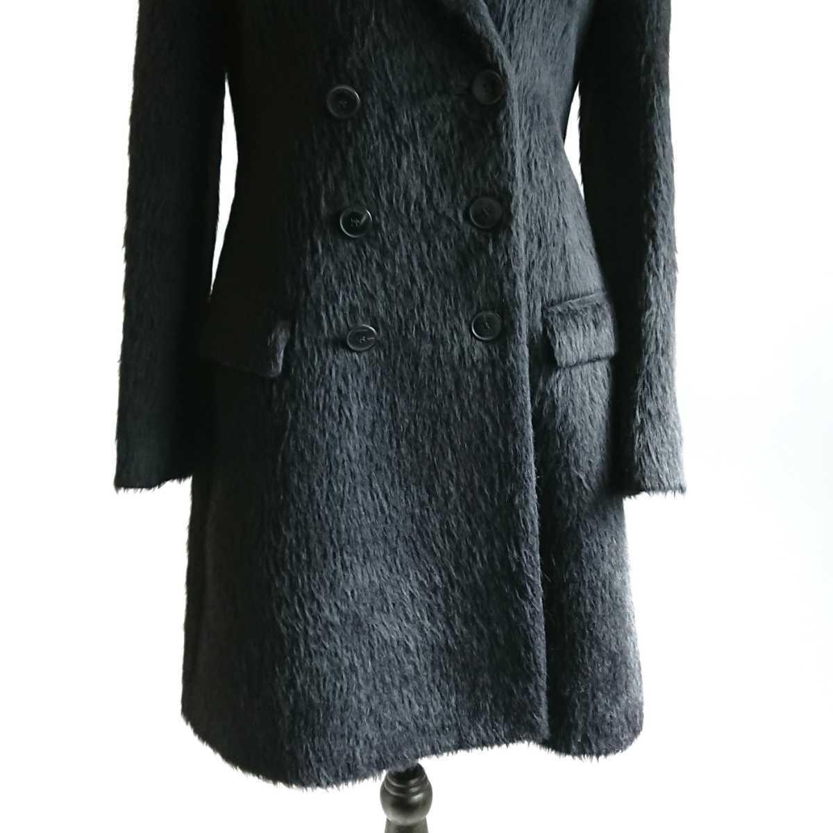 高級 美品 Salvatore Ferragamo フェラガモ コート ブラック_画像4