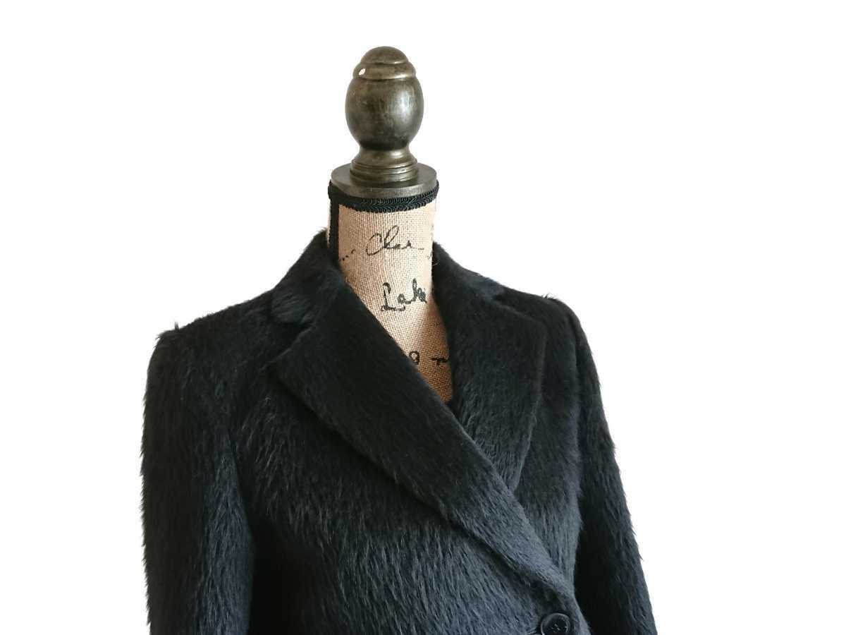 高級 美品 Salvatore Ferragamo フェラガモ コート ブラック_画像2