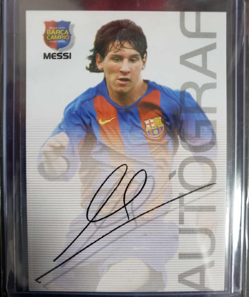 高騰中【Rookie Card】メッシ プリントサイン Panini 2005 Barca Lionel Messi 2004-2005バルセロナ 優勝記念 アルゼンチン_画像1