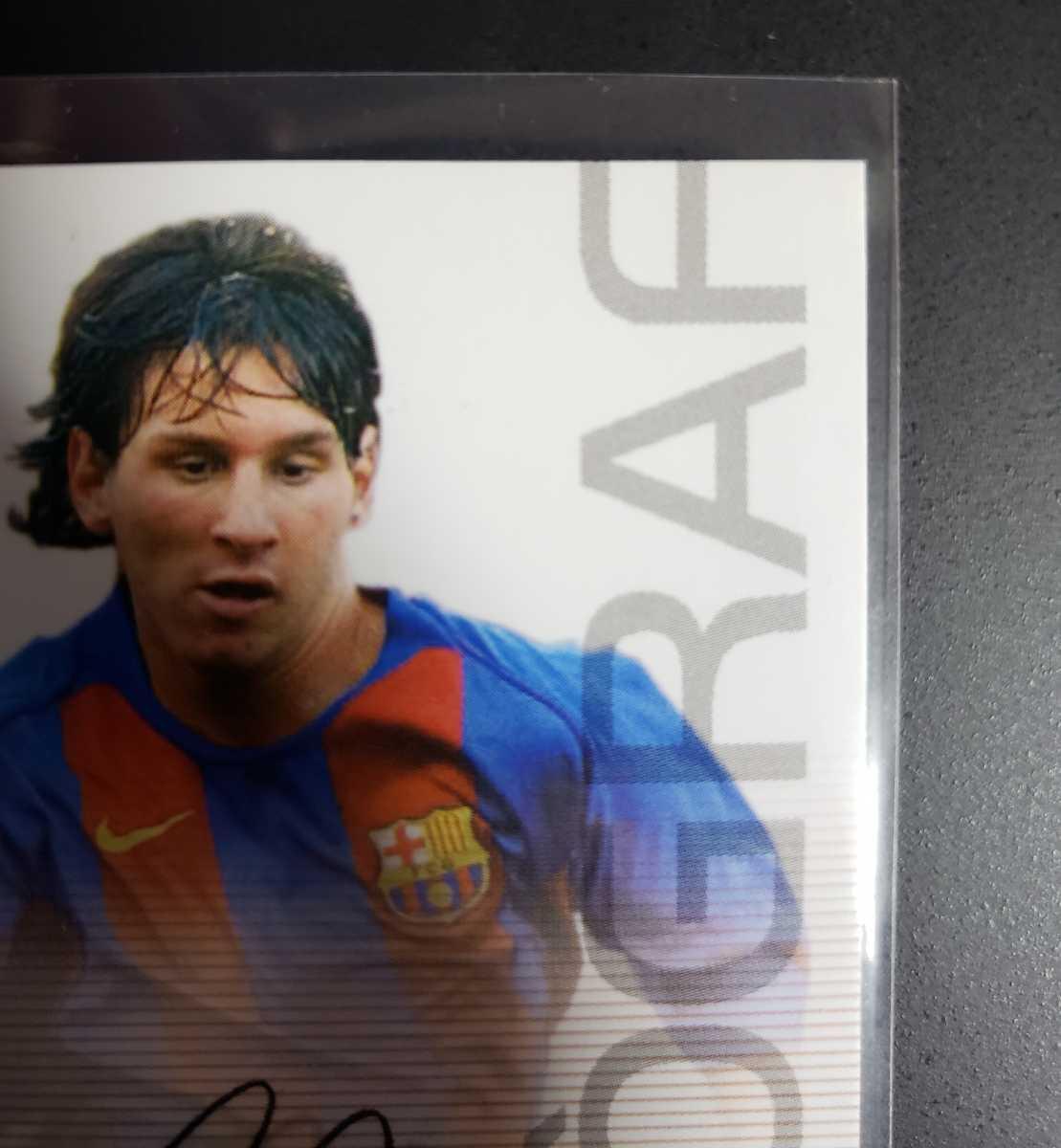 高騰中【Rookie Card】メッシ プリントサイン Panini 2005 Barca Lionel Messi 2004-2005バルセロナ 優勝記念 アルゼンチン_画像2